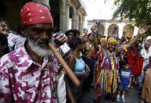 Homenaje a los esclavos en La Habana en 2007. / AP