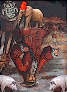 El primero de los Borbones, si hay un animal que lo representa es el cerdo, con perdón   para ellos, esperemos que el elefante repúblicano se imponga