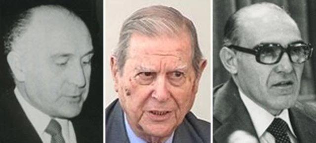Licinio de la Fuente, Alfonso Osorio y Antonio Carro.