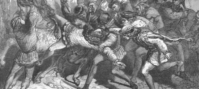Grabado sobre el asesinato de Louis de Orléans realizado por Paul Lehugeur en el siglo XIX