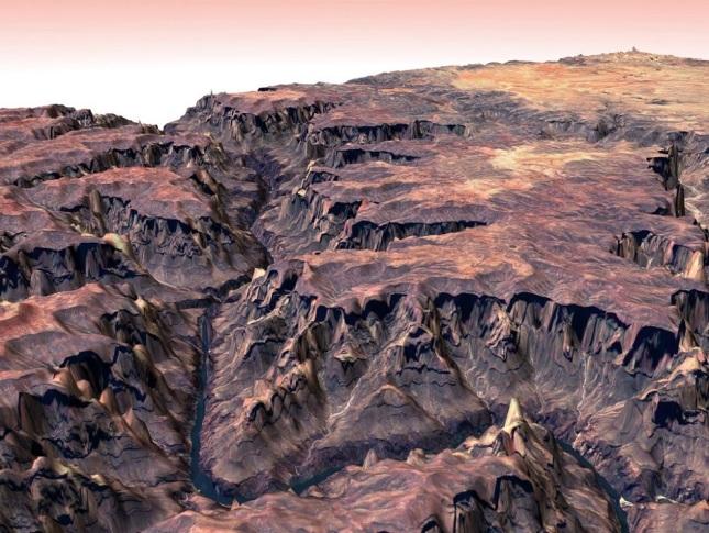 ©JAXA/Difusión 1. Los volcanes de Kamchatka, Rusia: La península de Siberia fue retratada recientemente por la NASA. Sus formaciones geológicas -que incluyen unos 30 volcanes en erupción- fueron declaradas Patrimonio de la Humanidad por la Unesco: además de su belleza natural, cada estructura encierra mitos y leyendas sobre su creación. En la foto se puede ver al volcán Klyuchevskaya cubierto de nieve. Con 4.750 metros sobre el nivel del mar, es el más elevado y activo de la cadena: tiene seis mil años y produce efusivas erupciones.