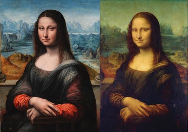 La Gioconda del Museo del Prado (izq.) y la de Leonardo da Vinci del Louvre (der.) - Seguir leyendo: http://www.libertaddigital.com/ciencia-tecnologia/ciencia/2014-05-03/es-la-mona-lisa-la-primera-imagen-en-3d-de-la-historia-1276517391/
