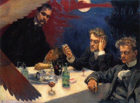 'Symposium' (1894), de Gallen-Kallela | Crédito: Wikipedia.