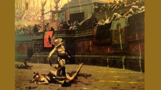 Durante varios siglos, miles de gladiadores fueron sacrificados periódicamente en los circos romanos