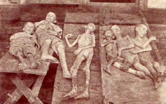 Niños ucranianos famélicos por la hambruna stalinista