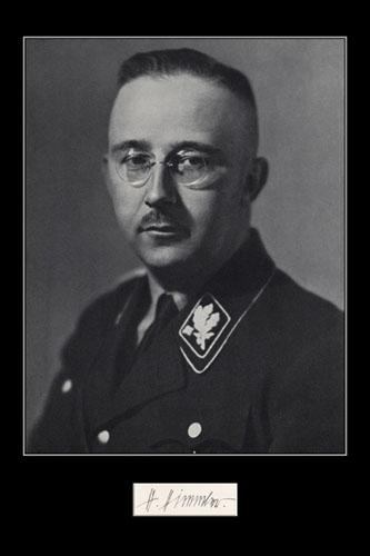 Heinrich Himmler, jefe de la Gestapo y las SS de Hitler, responsable directo de la masacre de los judíos en la Alemania nazi
