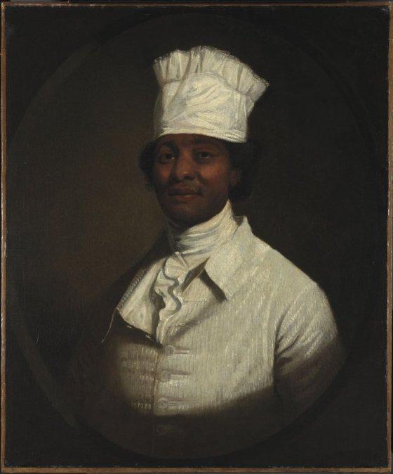 Retrato del cocinero de Georges Washington, de Gilbert Stuart (1795). Colección Museo Thyssen.