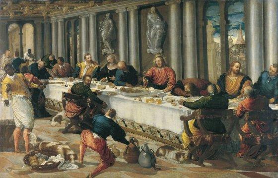 La última cena, Anónimo Veneciano (1570). Colección Museo Thyssen.