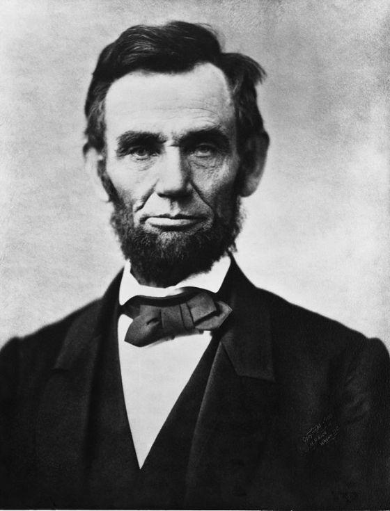 El Presidente de los EE.UU. Abraham Lincoln.
