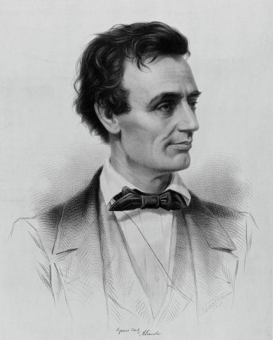Imagen de Lincoln en su juventud.