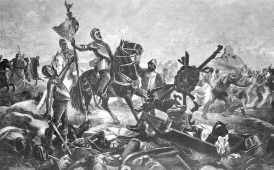Victoria de Hernán Cortés en la batalla de Otumba