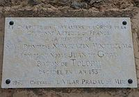 WIKIPEDIA  .  Placa a Xipaguazin Moctezuma en la iglesia de Toloriu