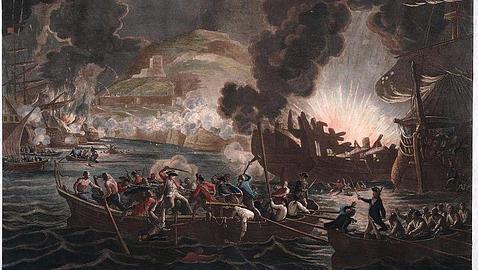 El desastre de las baterías flotantes, visto por William Hamilton