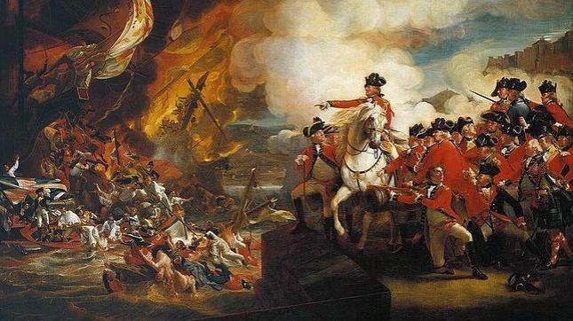 El Gran Sitio de Gibraltar, visto por el pintor John Singleton Copley