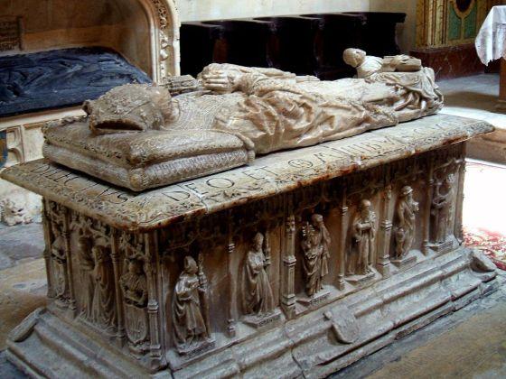 Sepulcro en la Capilla de la Visitación de la Catedral de Burgos.