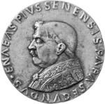 Pío II, medalla de bronce por Andrea Guacialoti; en la Colección Samuel H. Kress, National Gallery of Art, Washington, D.C
