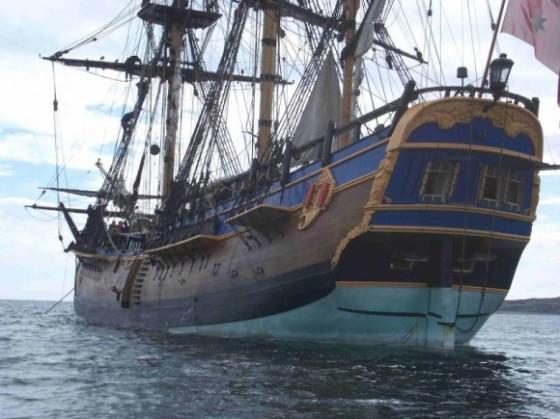 Una réplica actual del HMS Endevour