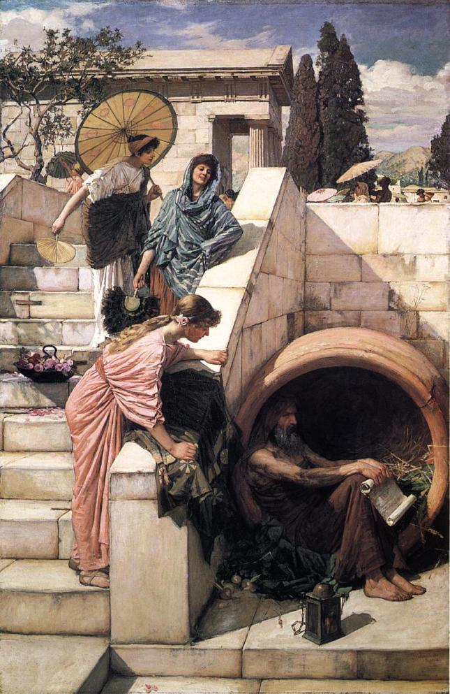 Diógenes (1882) por John William Waterhouse.
