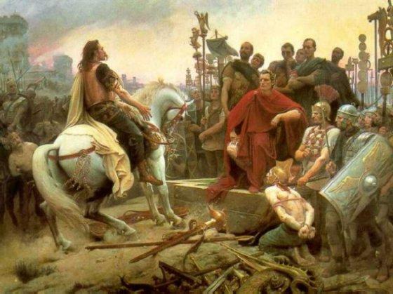 Rendición de Vercingetorix ante Julio César (Wikimedia commons)