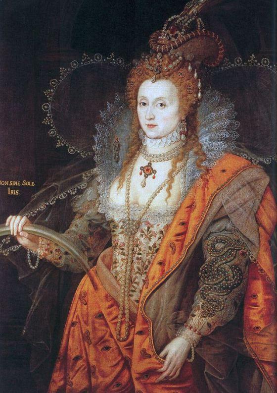 Isabel I, reina de Inglaterra.