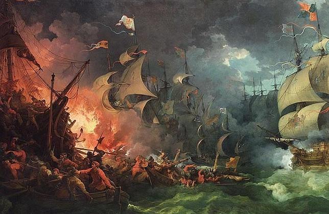 p.-j. loutherbourg La derrota de la Armada Invencible