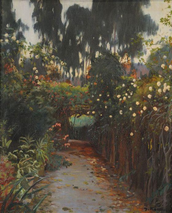 Camino de rosas - Santiago Rusiñol