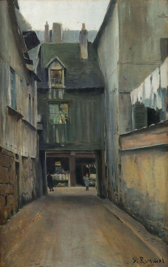 Calle de Rouen, Francia. Biblioteca Museo Víctor Balaguer.