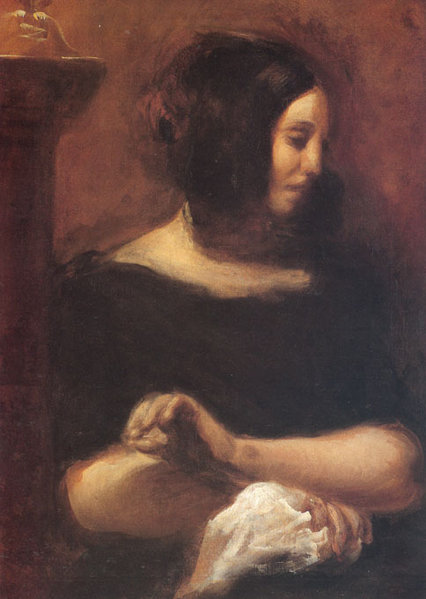 Retrato por Eugène Delacroix