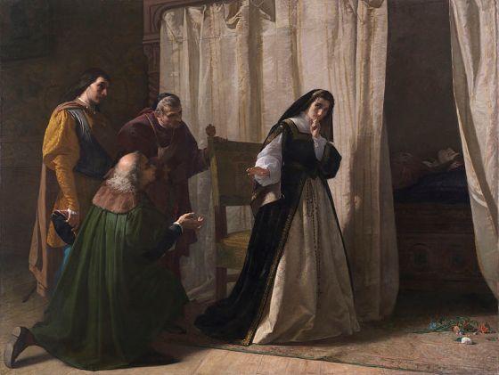 «La Demencia de Doña Juana» (1867), de Lorenzo Vallés- Museo del Prado