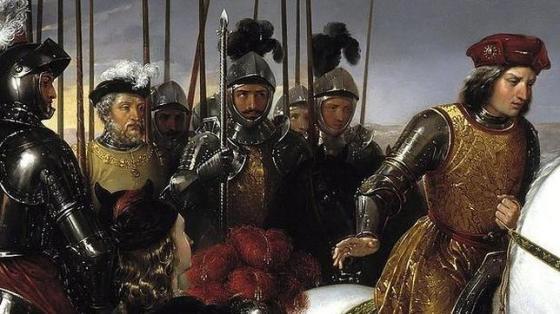 Gonzalo Fernández de Córdoba, acompañado de sus soldados tras la batalla de Ceriñola - Museo del prado