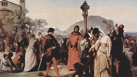 El cuadro «Las Vísperas sicilianas», de Francesco Hayez - Wikipedia