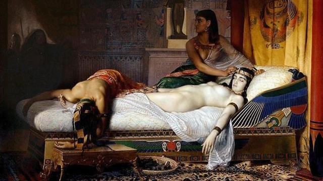 «La muerte de Cleopatra», obra del pintor Jean André Rixens