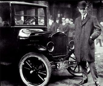 Con el famoso Ford T