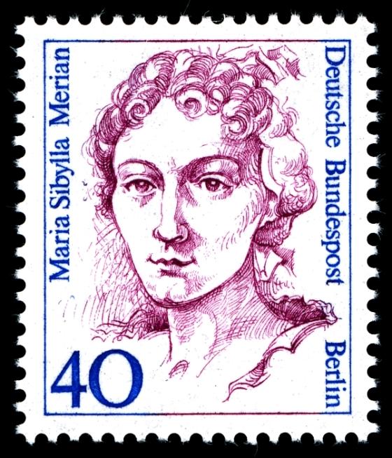 Sello postal alemán, de la serie Mujeres en la historia alemana.