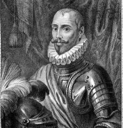 Grabado de Sancho Dávila- Wikimedia