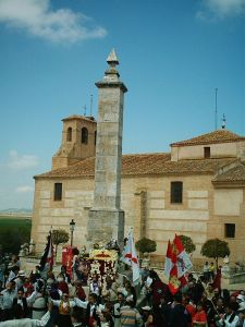 Monumento a los comuneros en la Plaza Mayor de Villalar.