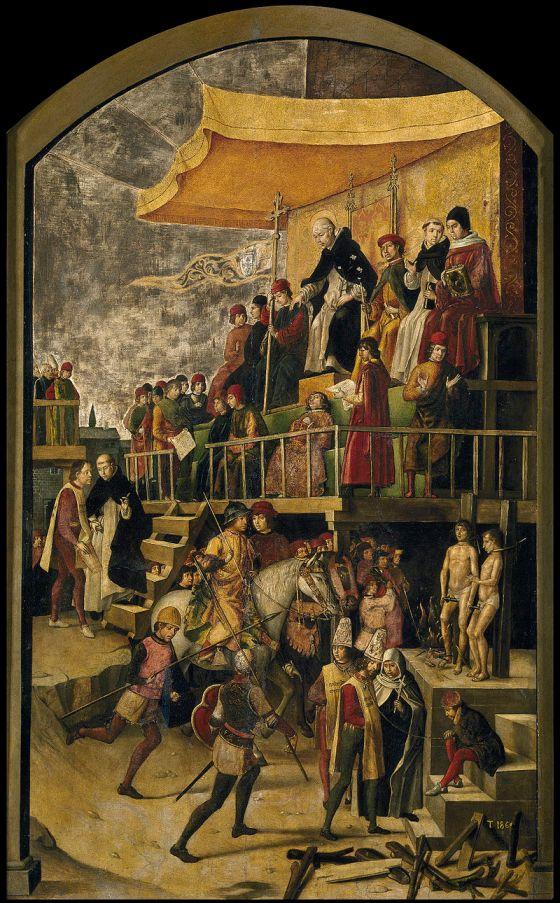 Detalle del «Auto de fe» de Berruguete- MUSEO DEL PRADO