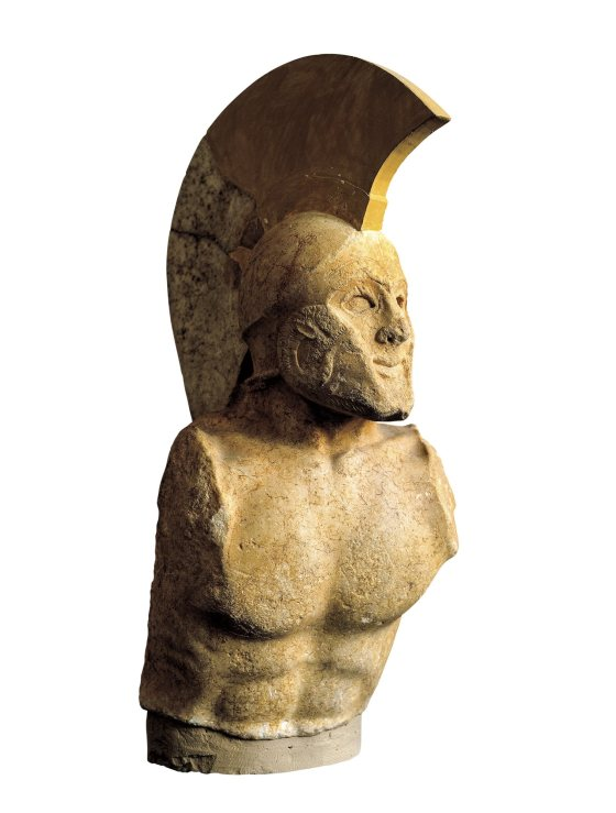 Guerrero espartano, quizá Leónidas. Siglo V a.C. Museo de Esparta.