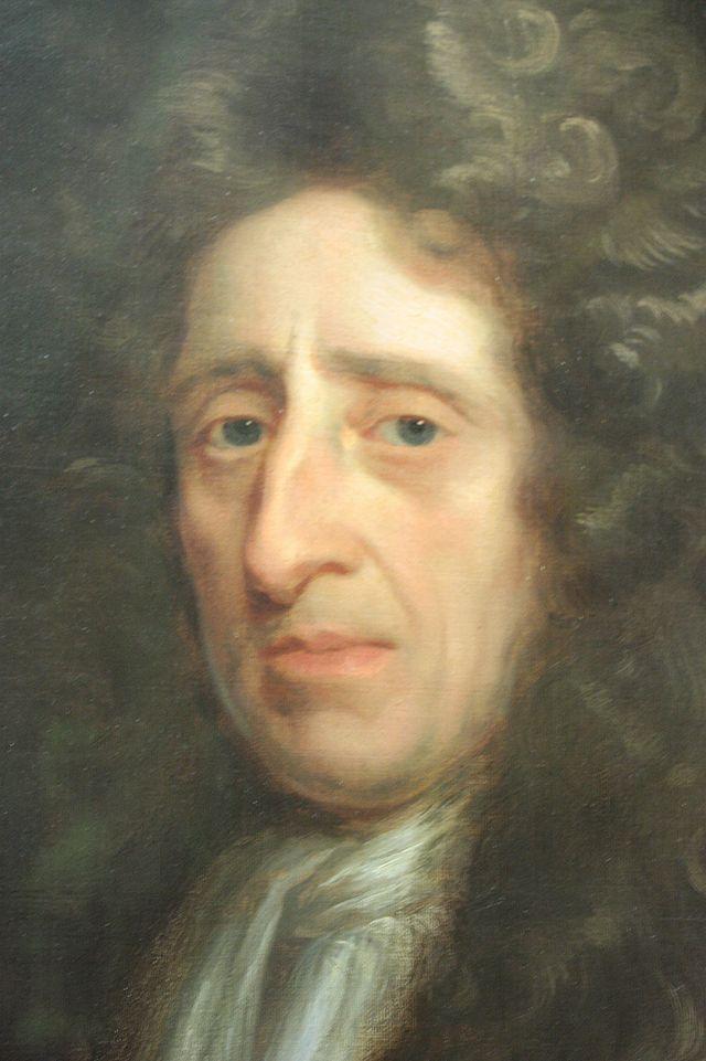 Retrato de John Locke por Godfrey Kneller, en el National Portrait Gallery.