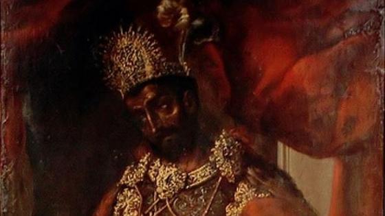 Retrato anónimo de Moctezuma II, que dio nombre a un teroso que poco tenía que ver con él - Wikimedia