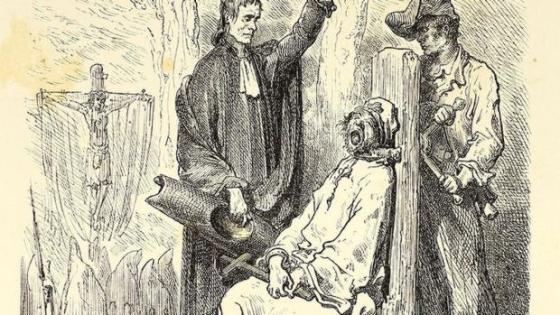 «Ejecución de un asesino en Barcelona», por Gustave Doré, publicado en 1874. - WIKIPEDIA