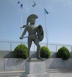 Estatua del Rey Leonidas en la ciudad de Esparta- Wikimedia
