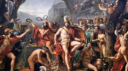 Leónidas en las Termópilas, por Jacques-Louis David- Museo del Louvre