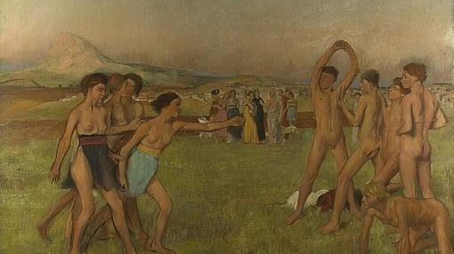Jóvenes espartanos, de Edgar Degas- National Gallery de Londres