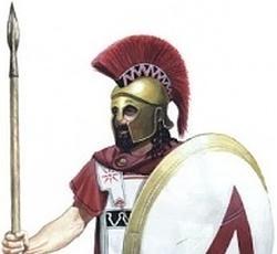 Hoplita espartano- Wikimedia