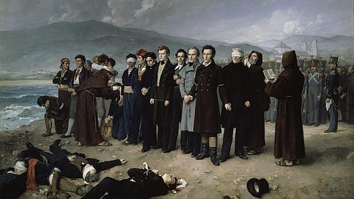 Fusilamiento de Torrijos, de Antonio Gisbert- MUSEO DEL PRADO