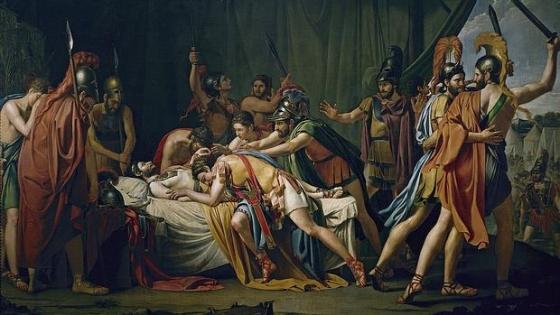 Muerte de Viriato (1807), de José Madrazo. - Museo del Prado