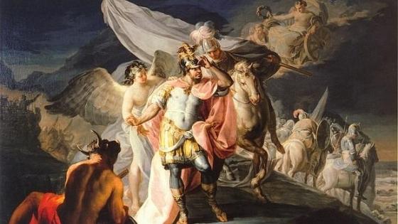 Aníbal vencedor contemplando por primera vez Italia desde los Alpes (1770), óleo sobre lienzo de Francisco de Goya
