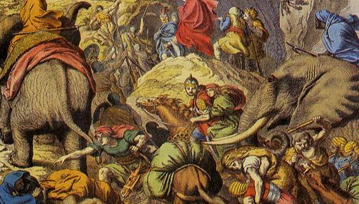 Aníbal y sus hombres cruzan los Alpes- Wikimedia
