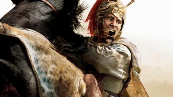 Cartel promocional de «Alejandro Magno» (2004). Una carga del macedonio marcó el principio del fin del Batallón Tebano en la batalla de Queronea